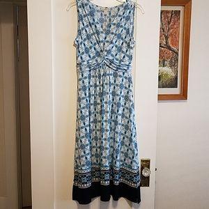 Dana Buchman Sleeveless Print Dress